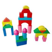 Building Blocks Wooden Construction Castle House Educational Kids Toys MN
