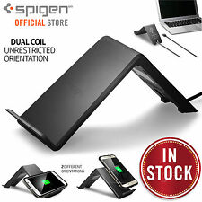 Fast Wireless QI Charger Charging Stand Pad, Genuine Spigen Essential F303W
