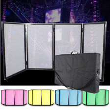 Disco DJ Lighting Screen 4 Panel Facade Foldable Deck Stand Booth with Carry Bag