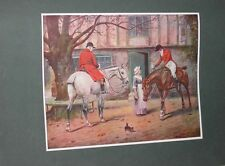 Large Antique Foxhound Dog Picture 1902 By George Wright Hunting Horses