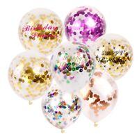 30.5cm 5 Pièces Doré Rose Confettis Ballons Rempli Hélium Fête D'Anniversaire