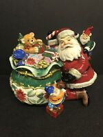 Paris And BeeBee 2004 Sweetz & Treatz Santa Claus w/Elves Christmas Cookie Jar