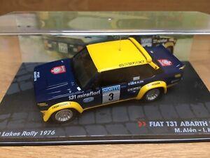 1/43 Altaya Fiat 131 Abarth 1st 1000 Lakes Rally 1976 Markku Alen WRC