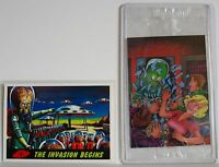 Mars Attacks 2 NSU Promo Cards 1994 # NSU Homage Card Sealed & 1 No # TOPPS NM+