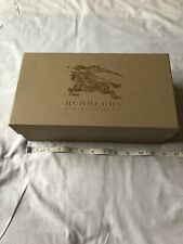 New Burberry Shoe Sandal Gift Box Storage Authentic Brown Gold