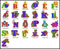 ABC Alphabet File Embroidery Digitized Designs to run Machines