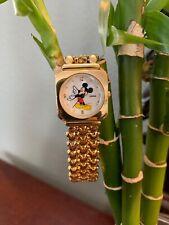 Vintage Lorus Woman's Mickey Mouse Quartz Watch Disney Japan V501-X047 Rare 80's