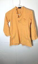 Fabindia Speckled Button Front Shirt Size M (4-6) Orange