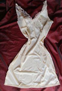 Vintage  Perlon Unterrock-kleid Gr. 46