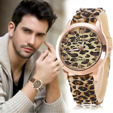 Geneva Leopard Silicone Women Casual Watch Quartz Analog Mens Sport Wrist Watch