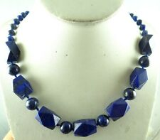 Natural Faceted Lapis Lazuli beads Handmade Gemstone Jewellery Necklace