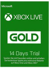 XBOX 360 LIVE 14 TAGE GOLD TESTMITGLIEDSCHAFT KARTE CODE Key CARD