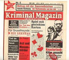 Dr. Morton Kriminal Magazin International 1.Jg.  Nr. 5  (0-1) wie Verlagsneu