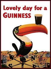 Vintage Lovely Day For A Guinness Retro Alcohol 1954 Poster Wall Picture A4 +