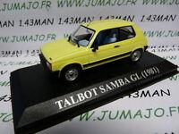 VA4F voiture 1/43 IXO altaya : TALBOT Samba GL 1981 jaune