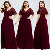 Ever-Pretty Plus Size Long Evening Prom Dresses Formal Celebrity Wedding Gowns
