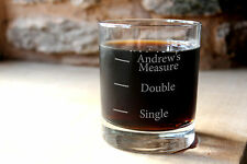 More details for personalised glass whisky tumbler. whiskey measures