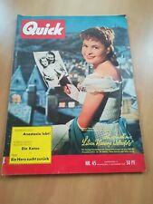 QUICK  / Nr.45 / 1955  Zeitschrift / Illustrierte /Nostalgie