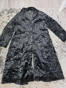 Faux Fur Black Crickle Coat large
