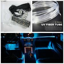 RGB LED Car Interior Decor Neon Light w/Foot Lamp Fiber Optical Strip BT APP 12V