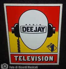 Adesivo Sticker RADIO DEEJAY TELEVISION Con Logo Italia uno 8 x 10 cm