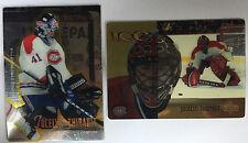 2 Jocelyn Thibault Cards 1995-96 Select Certified #30 & 1998-99 McD 19 Canadiens