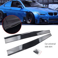 2x Universal Auto Car Side Skirt Rocker Splitter Winglet Wings Canard Diffuser *