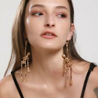 Halloween Skull Earrings Drop Dangle Stud Gold Luxury Long Earrings Charm Women
