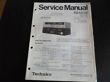 Original Service Manual Technics RS-M226