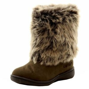 Carter's Toddler Girl's Fluffy 2 Fashion Fur Winter Boots Shoes
