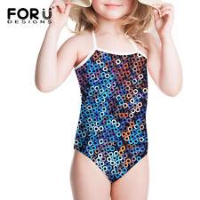 Girls Kids One Piece Bikini Swimwear Swimsuit Bathers Swimmers Size 3-8 Years