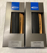 Pair Schwalbe 700 X 35c G-One Classic Allround Tan Wall Folding Tyres