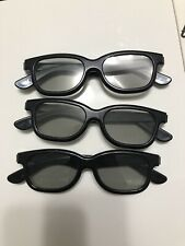 Real D 3D Glasses Passive Movie Theater 3-D 3 Pairs Game TV