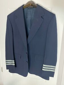 Airlines Captain's Uniform Blazer Pilot Jacket 2 Button 3 Stripe Size 42R