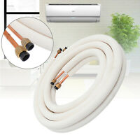 4m 1/4'' 3/8'' Insulated Copper Pipe Air Conditioner Fitting Twin Pair Coil Tube