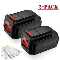 2-Pack For Black & Decker LBX2040 LBXR36 40V 2.5Ah MAX Lithium Ion Battery