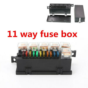 11 Way Relay Fuse Box With 6 Pcs 5-Pin 12V 80A Relay Universal For Car Circuit