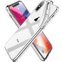 PELLICOLA VETRO PER IPHONE XS / XS MAX / XR + COVER CUSTODIA TRASPARENTE MORBIDA