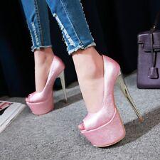 Women's High Heel Peep Toe Platform Pumps Party Shoes AU Plus Size 2-13 L120