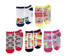 New Women's Fun & Cute Blow Pop Charms Candy Tootsie Roll 5 pack No Show Socks