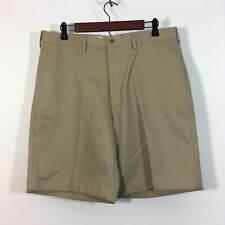 LANDS END' Shorts Men Size 34 Tan Traditional Fit Chino