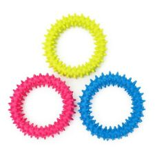 Small Dog Chew Toys Spiky Ring Rubber Toy Good For TeethingTraining Puppies