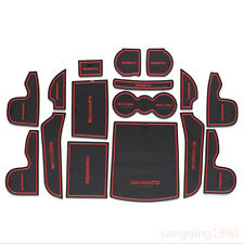 Car Interior Door Mat Non-slip Cup Pads 16pcs For Kia Sorento 2015 2016 2017