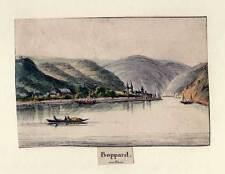 Boppard - Umrissradierung um 1840 Selten!