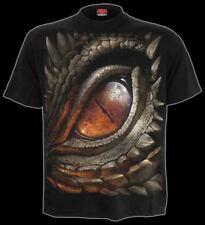 Spiral Dragon Eye T-shirt Black L