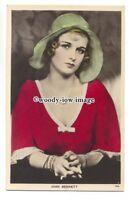 b4321 - Film Actress - Joan Bennett - postcard Picturegoer Colourgraph C14a