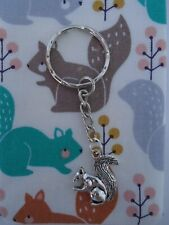 SQUIRREL CHARM KEY RING KEY CHAINS SMALL GIFT IDEA SQUIRRELS WOODLAND RED NEW