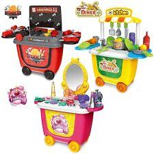 Kids Trolley Pretend Play Kitchen Tool Dress Make up GIRLS BOYS Toy Set Gift 3yr