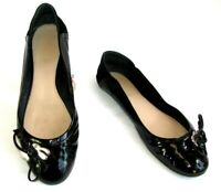 BALLY SUISSE - Chaussures ballerines RITTINA cuir verni noir 37 - TRES BON ETAT