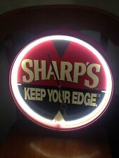 Sharp's Miller Beer Neon Wall Clock Red SHARP'S KEEP YOUR EDGE